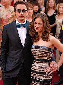 Downey Jr. and his wife, Susan Downey, at the 2010 Academy Awards