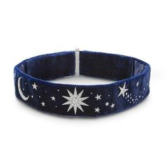 LOVE, MAGIC AND NIGHT SKY A velvet and diamond choker (146.495 BRL) ❤ liked on Polyvore featuring jewelry, necklaces, accessories, chokers, blue, blue necklace, diamond choker, velvet choker, choker necklace and choker jewellery
