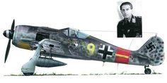 Artwork profile Focke Wulf Fw 190A8 6.JG300 (Y9+-) Hannes Theiss Lobnitz 1945-0A