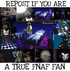 Fnaf was my second Fandom... It is also the BEST GAME IN DA WORLD