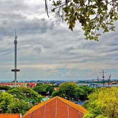 View of Melaka and the Taming Sari Tower ���� #malaysia #towerview #clouds  #travel #traveling #vacation #visiting #instatravel #instago #instagood #trip #holiday #photooftheday #fun #travelling #tourism #tourist #instapassport #instatraveling #mytravelgram #travelgram #travelingram #igtravel #view #picoftheday #amazing #landscapephotography #nofilter #beautiful #landscape http://tipsrazzi.com/ipost/1507792152602684748/?code=BTswPljAS1M