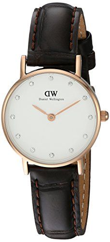 Women's Wrist Watches - Daniel Wellington Womens 0902DW Classy York Swarovski CrystalAccented Watch ** Check out this great product.