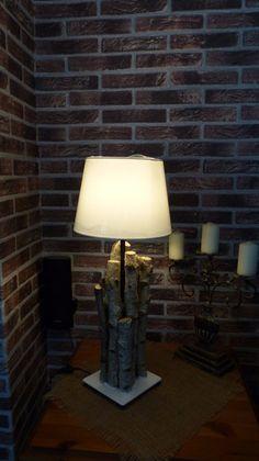 Tischlampe,+Fuß+aus+Birkenholz+natur+von+Fast+ALLES+AUS+HOLZ+auf+DaWanda.com