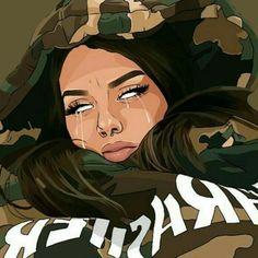MOOD kush weed cannabis nugs bud marijuana maryjane dank inweedwetrust weedsnob weedhumor weedsociety cannababes stonerchicks redeyes itslit stupidlit h dabs wax honey sauce torch mylungshurt stonerhumor cannapeop Dope Cartoon Art, Dope Cartoons, Black Girl Cartoon, Arte Dope, Dope Art, Black Love Art, Black Girl Art, Pop Art Girl, Trill Art