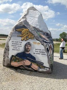 Freedom Rock, Greenfield, IA ~ On this side, Legendary Navy SEAL Sniper, Chris Kyle, RIP.