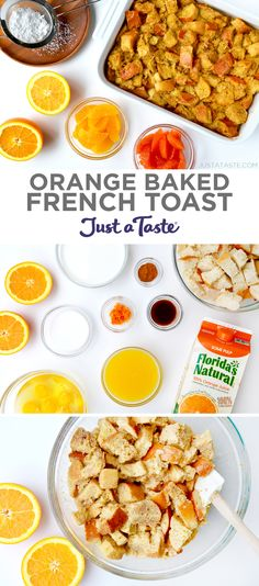 Orange Baked French Toast recipe from justataste.com #recipe #holiday #breakfast