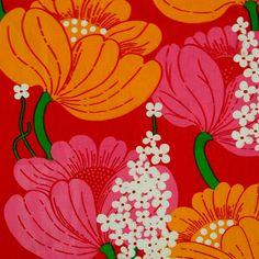 modflowers: vintage Finnish fabric designed by Raili Konttinen