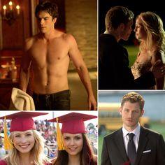 The Vampire Diaries Season Finale Pics: Shirtless Damon and Graduation 4x23
