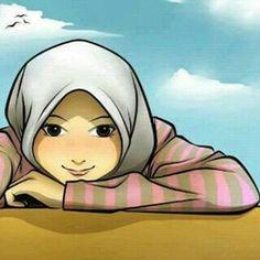 Kartun Muslimah Tersenyum