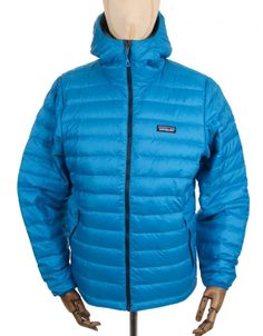 Patagonia Down Sweat Hooded Jacket - Andes Blue -  £ 209.95
