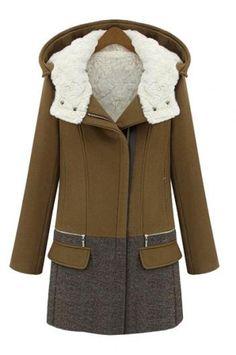 Hit color woolen coat_Coats_CLOTHING_Voguec Shop
