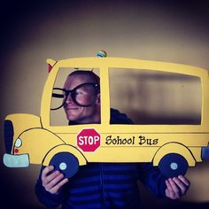 Custom school bus prop for the photo booth. School is back in session.