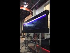 Wall mounted fountain indoor waterfall water feature for home decor - YouTube