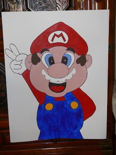 Mario Party game: Pin the moustache on Mario