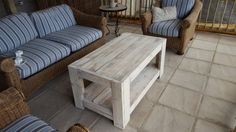 Pallet Coffee Table Pallet Coffee Tables - white washed
