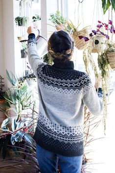 Ravelry: Rainier pattern by Kate Gagnon Osborn Fall Knitting, Fair Isle Knitting, Sweater Knitting Patterns, Knitting Sweaters, Crochet Woman, Knit Crochet, Icelandic Sweaters, Thing 1, How To Start Knitting