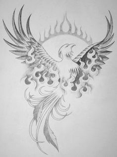 phoenix rebirth... I like it but get rid of the half circle of flames