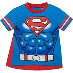 superman+costumes Products : Superman Toddler Boys' T-shirt with Cape, Blue