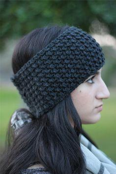 Crochet Headband Ear Warmer Moss Stitch Crochet by ArimaDesigns