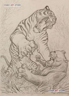 japanese tattoos symbols and meaning Cool Sketches, Tattoo Sketches, Tattoo Drawings, Animal Sketches, Animal Drawings, Body Art Tattoos, Sleeve Tattoos, Tiger Sketch, Tiger Tattoo Design