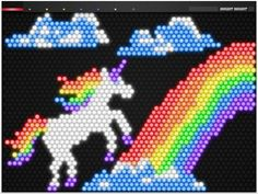 Bright Bright App is a Virtual Lite-Brite Game for the iPad Lite Brite, Sprites, The Last Unicorn, Hunting Gifts, Rainbow Unicorn, Rainbow Colors, Gift Guide, Free Printables, Diy Crafts