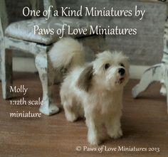 Molly 1:12 scale miniature dog