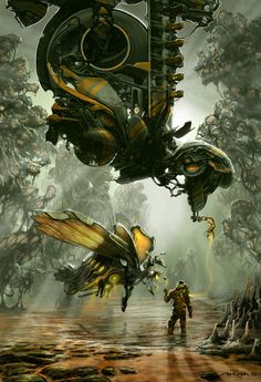 vast insects infest the fetid swamps and noxious groves.