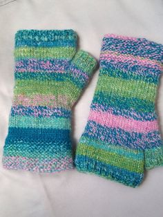 Hand Knit Fingerless Mitts by HandDyed on Etsy.  Very thick and warm.  These are made with handspun wool and lined.