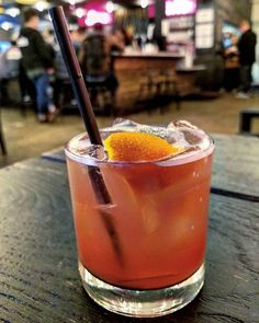 """The Blood Moon from @lowbrau916 was a drink that really ordered itself. . . . I was sitting next to @rachelvalley and young bearded  gentleman came over and asked. What we'd like to drink. I had never been here before so I asked his  recommendation. He pointed directly to the blood moon and said """"this is my favorite."""" He then began to make his way down the list but I interrupted him and chose the blood moon. Rule for those new to the foodie world. Always take the first item mentioned when…"""
