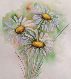 Brusho daisy