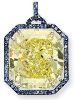 65.2 Carat Yellow Diamond Pendant   via Christie's