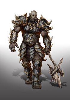 Epic Characters, Dungeons And Dragons Characters, Fantasy Characters, Fantasy Races, Fantasy Rpg, Medieval Fantasy, Barbarian Dnd, Half Orc Barbarian, Fantasy Character Design