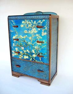 Antique Deco Van Gogh Dresser by FabulousPieces on Etsy Art Deco Furniture, Hand Painted Furniture, Funky Furniture, Paint Furniture, Repurposed Furniture, Furniture Makeover, Vintage Furniture, Dresser Furniture, Dressers