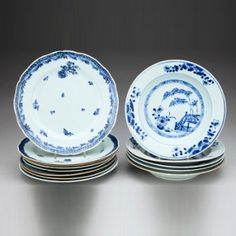 Set of Thirteen Porcelain Plates Qing Dynasty