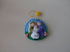 Pesebre y oveja iman