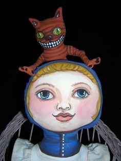 My Art Dolls.... Alice and Cheshire SOLD