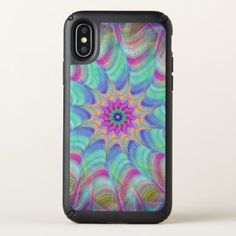 Vibrant Spiral Pattern Speck iPhone X Case - retro gifts style cyo diy special idea