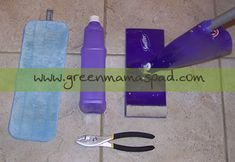 """How to """"green"""" your Swiffer wet Jet. Refill the empty solution bottles with a natural cleaning solution."""