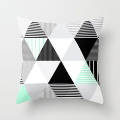 Throw pillows and cushions are a easy means to earn assertion. So that you're in all probability stunned and maybe a tiny confused whenever you encounter a triangle pillow. Textures Patterns, Print Patterns, Childrens Room, Motifs Textiles, Triangle Pillow, Geometric Throws, Triangle Pattern, Home And Deco, My New Room