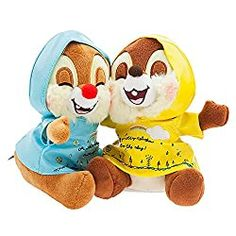 I am sure very few of you haven't heard of the Chip And Dale Cartoon Characters. In fact, they are well known as everybody's favorite chipmunks. Disney Plush, Disney Toys, Baby Disney, Cute Raincoats, Ariel Doll, Disney Stuffed Animals, Chip And Dale, Disney Merchandise, Winnie The Pooh