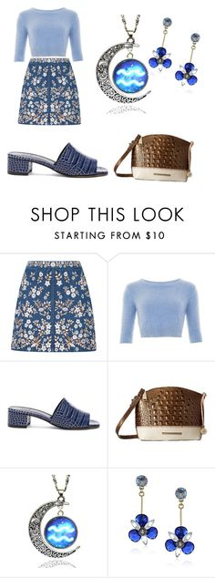 """denim"" by shannongarner ❤ liked on Polyvore featuring Needle & Thread, Collectif, Maryam Nassir Zadeh, Brahmin and Kate Spade"