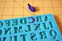 Fondant in an Alphabet Mold: Creating a Fondant Letter