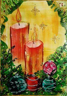Encaustic Painting, Wax, Christmas Illustration, Kunst, Laundry