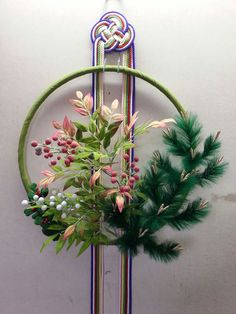 Japanese Christmas, Japanese New Year, Japanese Art, Chinese New Year Decorations, New Years Decorations, Flower Decorations, Kirigami, Modern Flower Arrangements, Arte Floral
