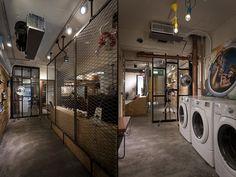 Travelled 9000km laundry / café by Formo design studio, Taipei city – Taiwan » Retail Design Blog