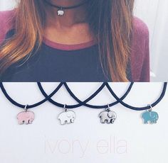 Elephant chokers ❤️ Ivory Ella is a great foundation which makes clothes and accessories to buy, and 10% of all proceeds go towards saving the elephants.