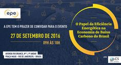 """O seminário internacional """"O Papel da Eficiência Energética na Economia de Baixo…"""