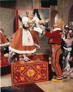 Dick Van Dyke and Sally Ann Howes in Chitty Chitty Bang Bang. Favorite part in the movie :)