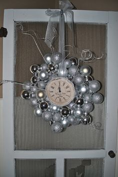 "What a fantastic idea for a New Year's Wreath.  Definitely on my ""to-do"" list"