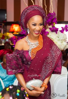 Nollywood actress, Adesua Etomi and singer Banky W's had their introduction today (the of May, See first photos from here. Nigerian Traditional Dresses, African Traditional Wedding Dress, Traditional Wedding Attire, Traditional Outfits, Nigerian Bride, Nigerian Weddings, African Weddings, Wedding Hair Clips, Wedding Hair Pieces